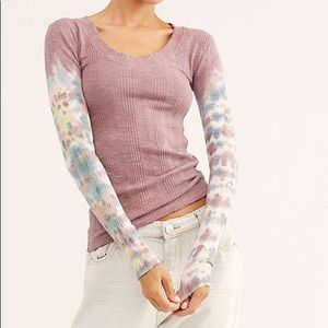 Free People Big Sur Tie Dye ribbed tee